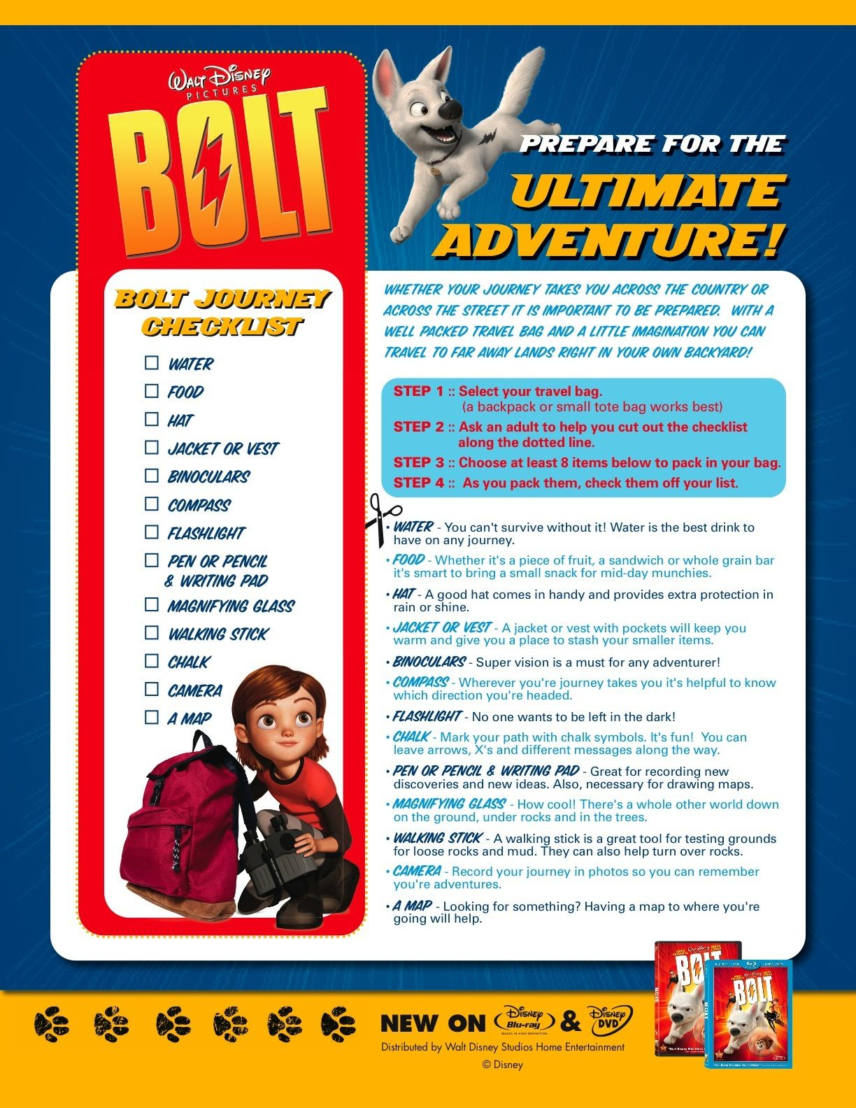 Bolt Activity Sheets To Download