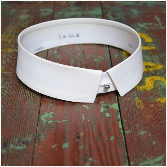 "Detachable Fold Down Collar 18.5/"""