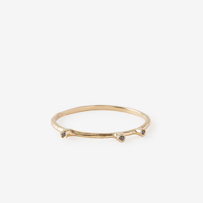 TRI BLACK DIAMOND RING