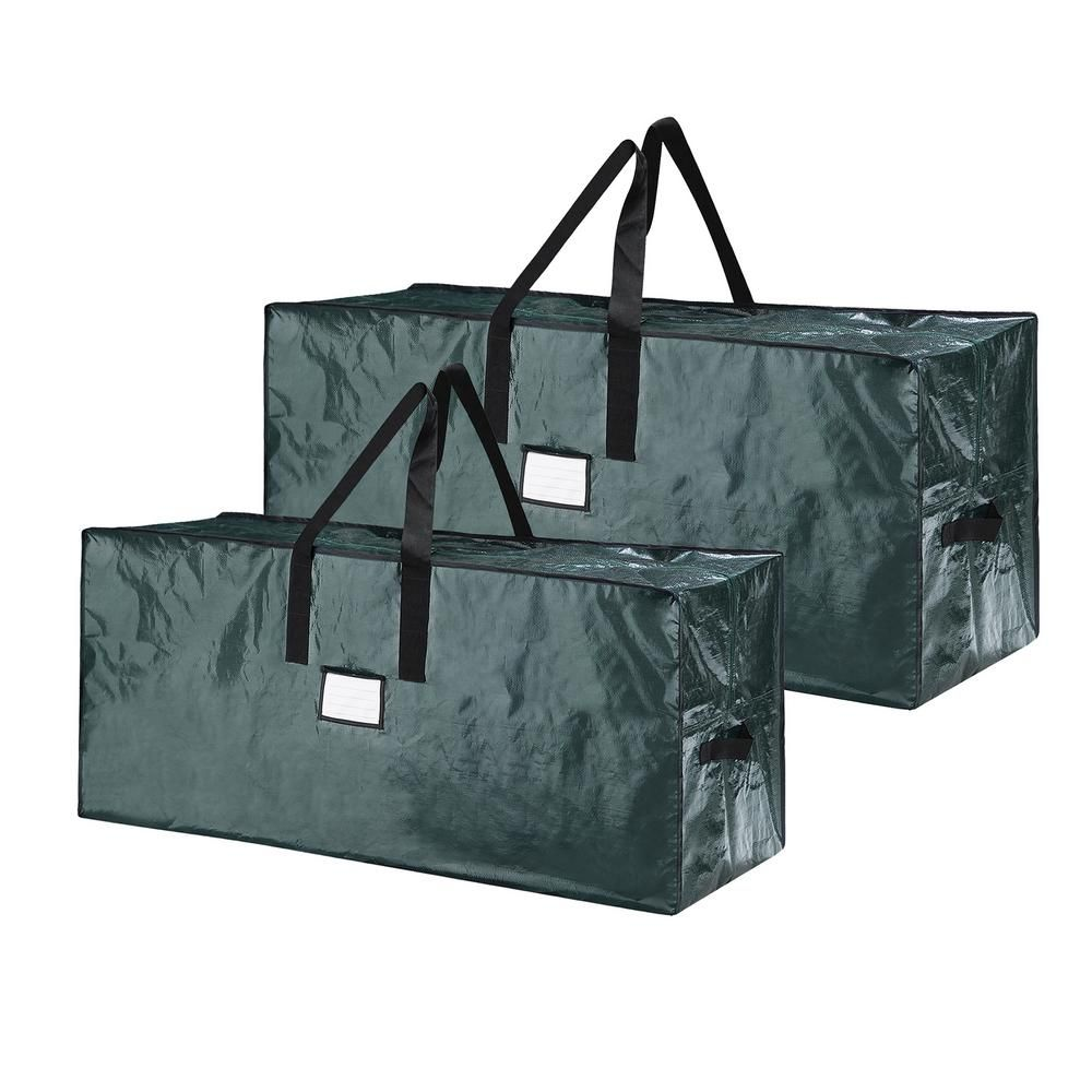 Holds a 12 Foot Artificial Tree Elf Stor Premium Green Rolling Duffel Bag Style Christmas Tree Storage Bag