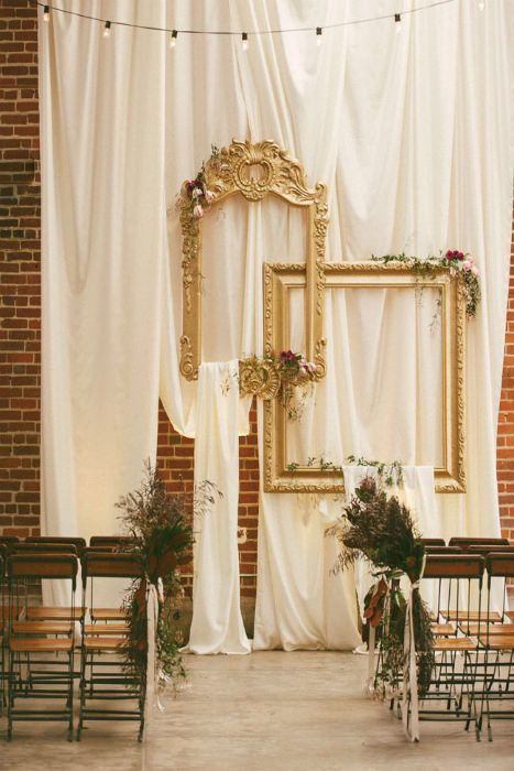 10 ways to use frames on your wedding day backdrops fabrics and 10 ways to use frames on your wedding day junglespirit Image collections