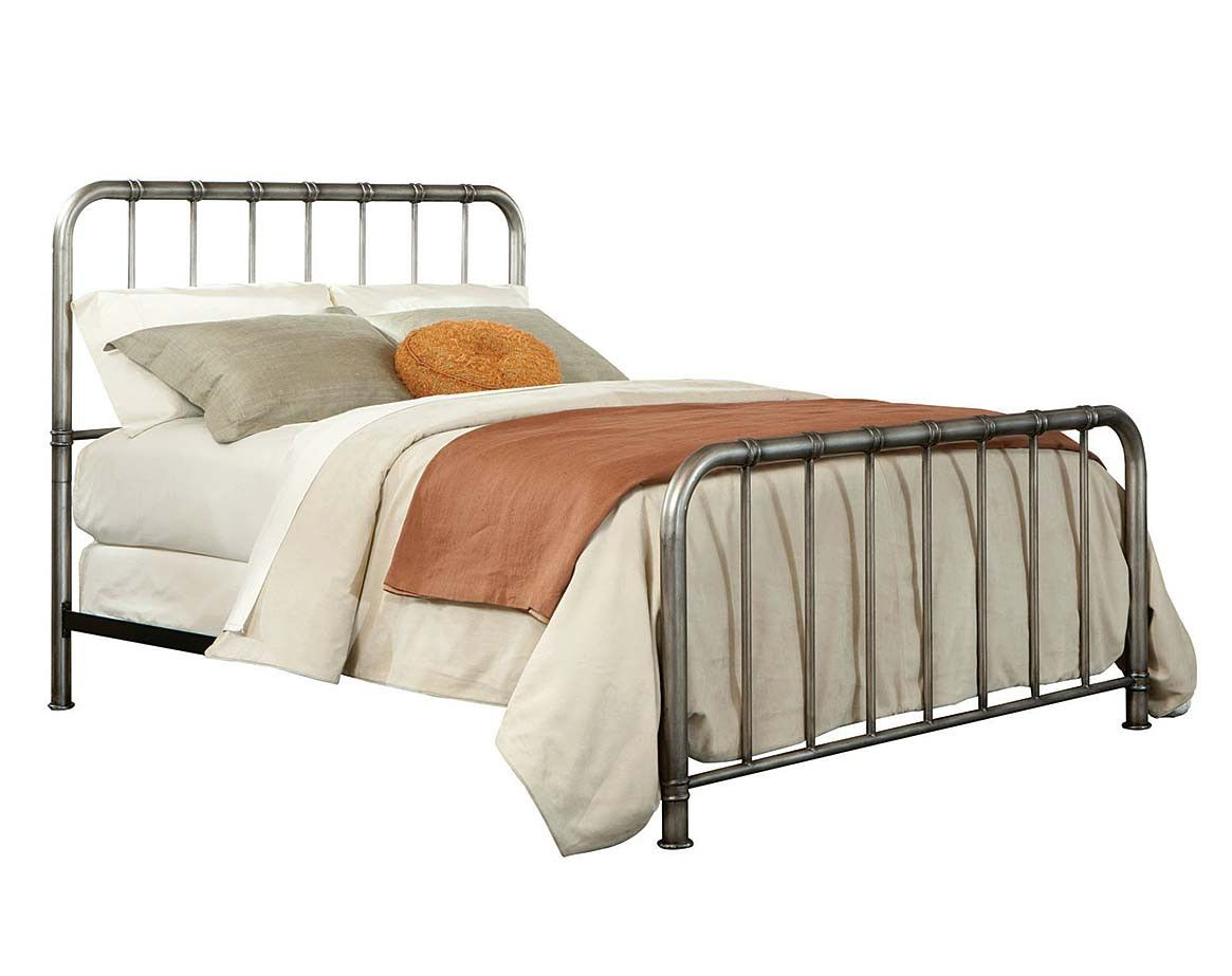 Steel Frame, Antique Pewter Finish | Tristen Metal Bed | American ...