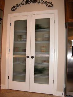 Good Double Pantry Door Full Veiw Double Pantry Doors