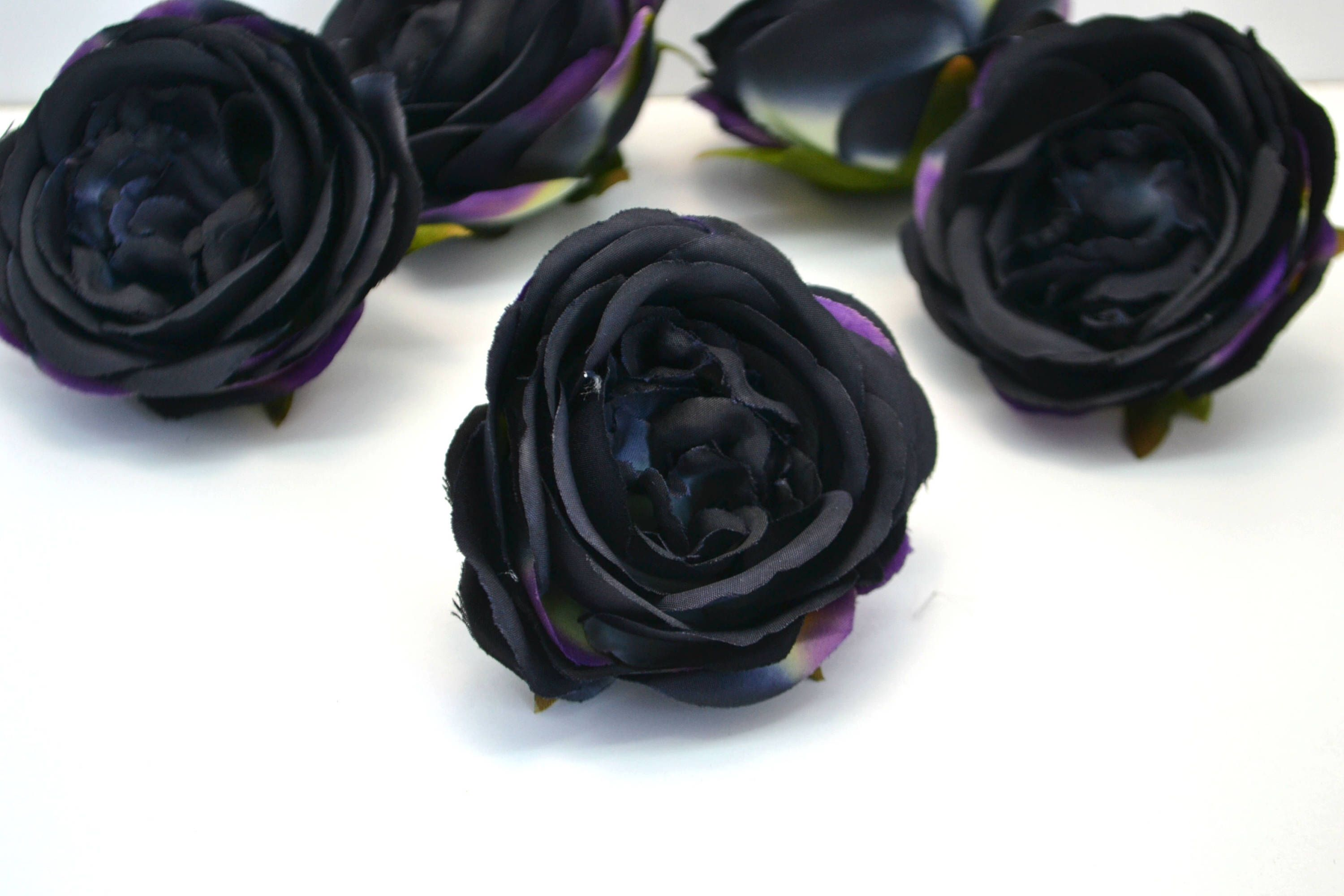Excited to share the latest addition to my etsy shop black flowers my etsy shop black flowers gothic flowers artificial roses wedding wreath fabric flowers black hair rosette fake roses silk roses floral crown making izmirmasajfo