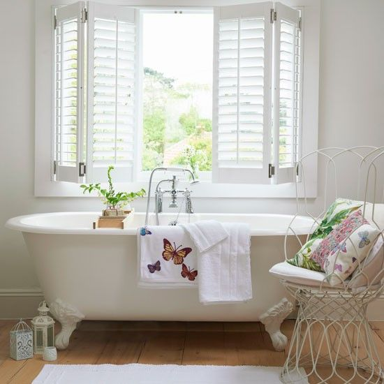 Relax In A Spa Room Country Bathrooms Ideas Housetohome Co Uk Bathroom Window Treatments Country House Interior Cottage Bathroom