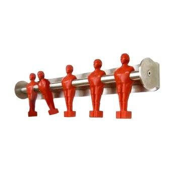 Offside coat hook, red and stainless steel