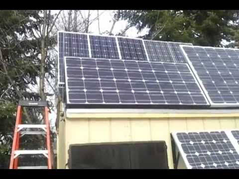 Solar Shed Back Feed Solar Panel Grid Tie Inverter Update Solar Panels Solar Roof Solar Panel