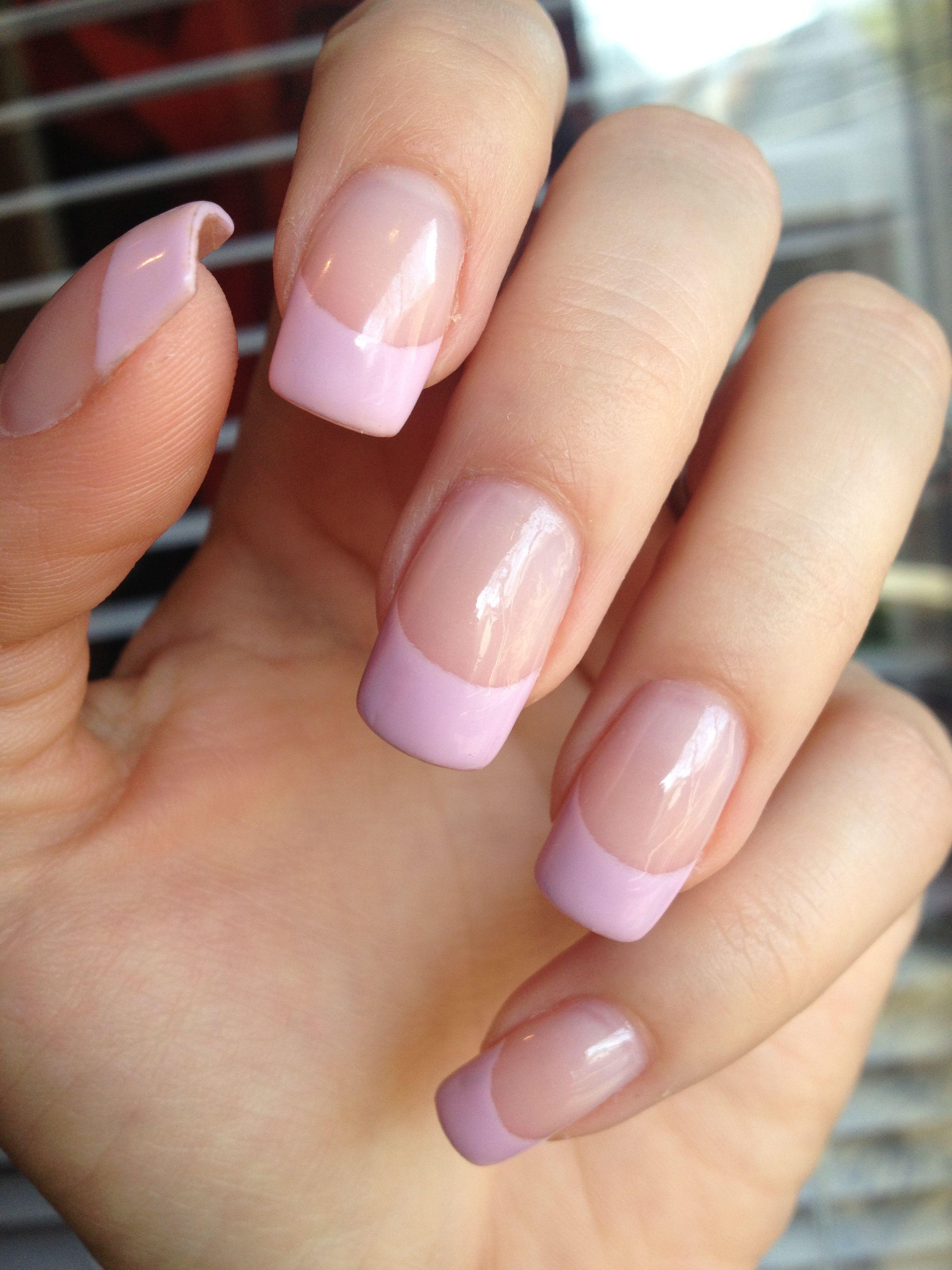 Pink French Manicure Nails Pinterest Manicuras Diseños De