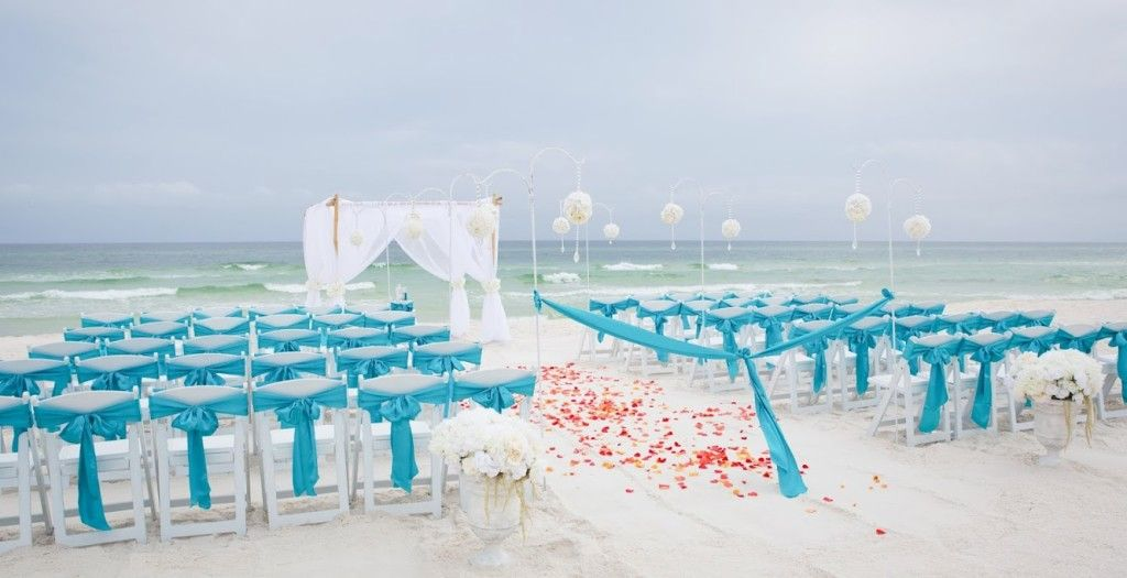 Turquoise Beach Wedding Panama City Beach By Princess Wedding Co Beach Destination Wedding Panama City Beach Wedding Beach Wedding