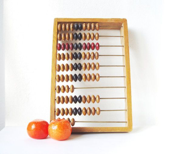 Russian Abacus Vintage Soviet Union USSR by MerilinsRetro on Etsy, $28.00