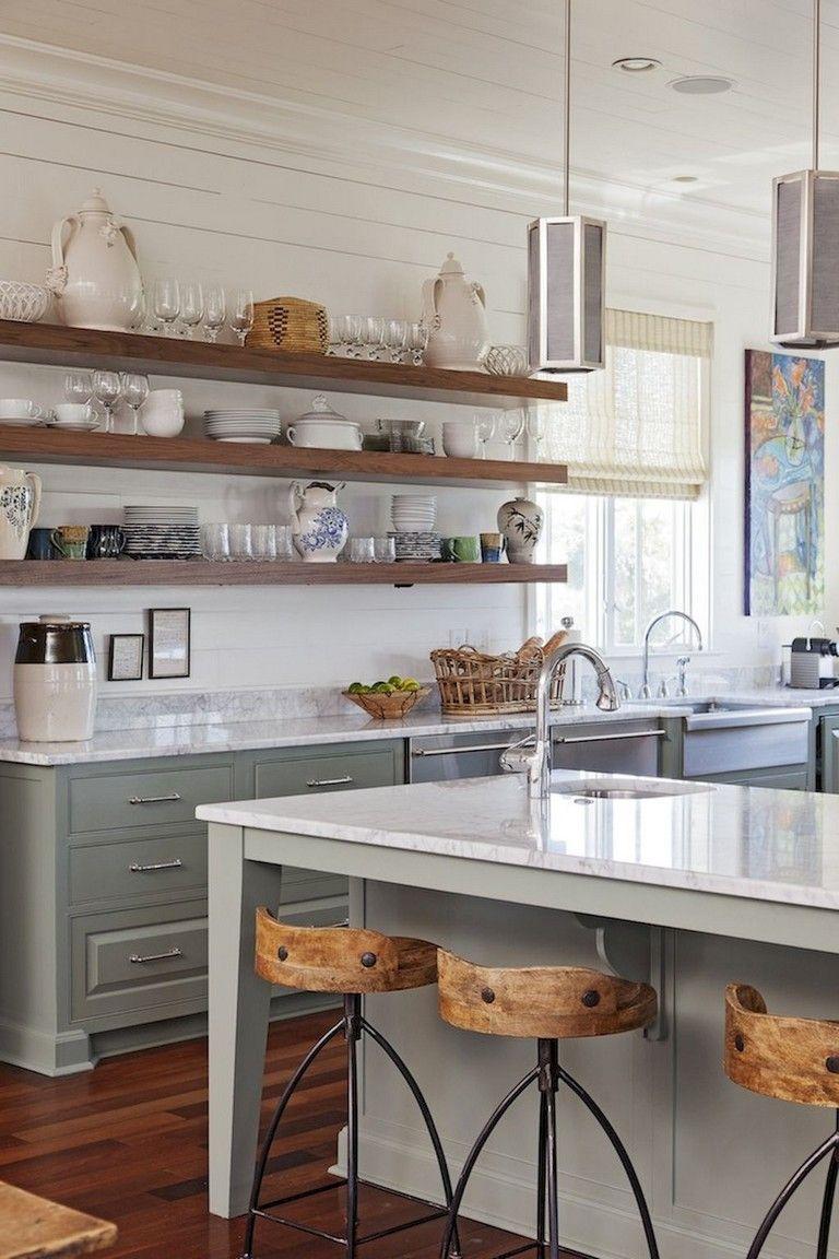 37 Inspiring Diy Small Kitchen Open Shelves Decor Ideas Upper Kitchen Cabinets Rustic Kitchen Grey Kitchen