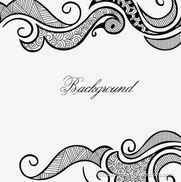 Henna Design Frame White Background Doodle Designs Henna Diseno