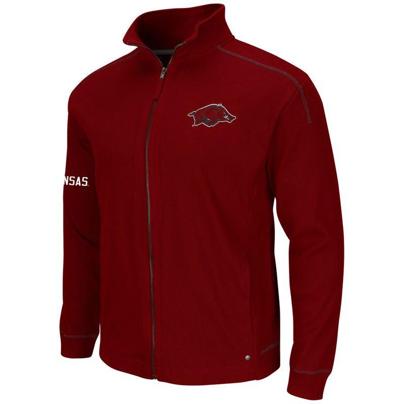 Arkansas Razorbacks Colosseum Traverse Full Zip Sweater - Cardinal