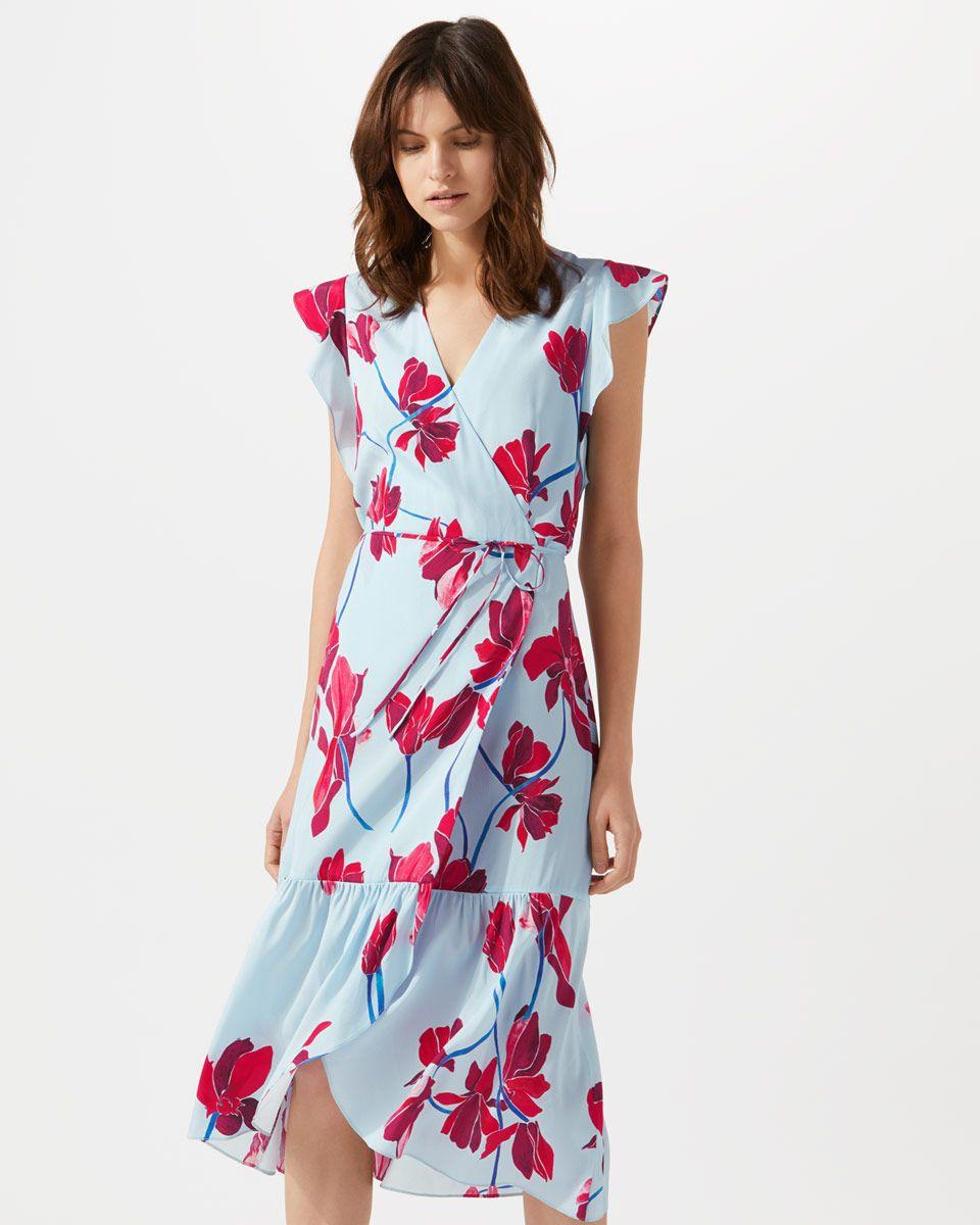 Silk Cyclamen Print Wrap Dress Jigsaw Hbq20dW
