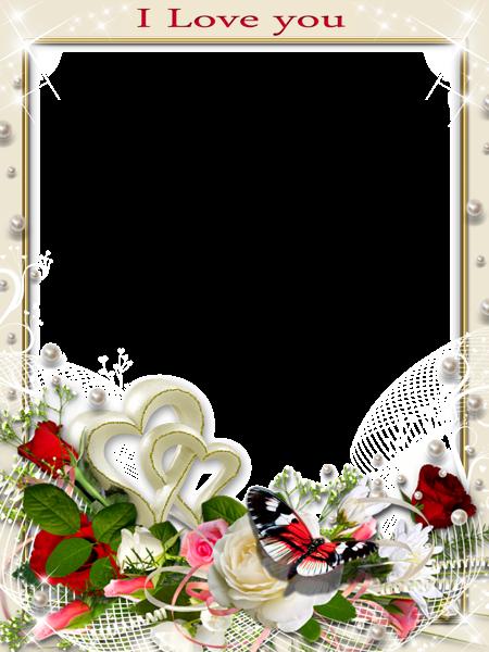 Transparent Romantic Frame Love You | Photo | Pinterest | Frame ...