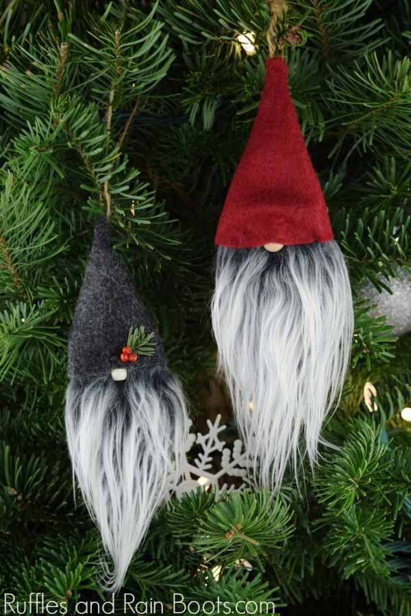 These adorable Christmas gnome ornaments are a 15minute