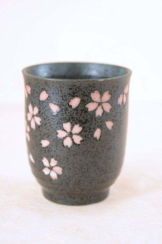 Vintage Cherry Blossom Teacup Anese Ceramic By Theotherlife 6 00