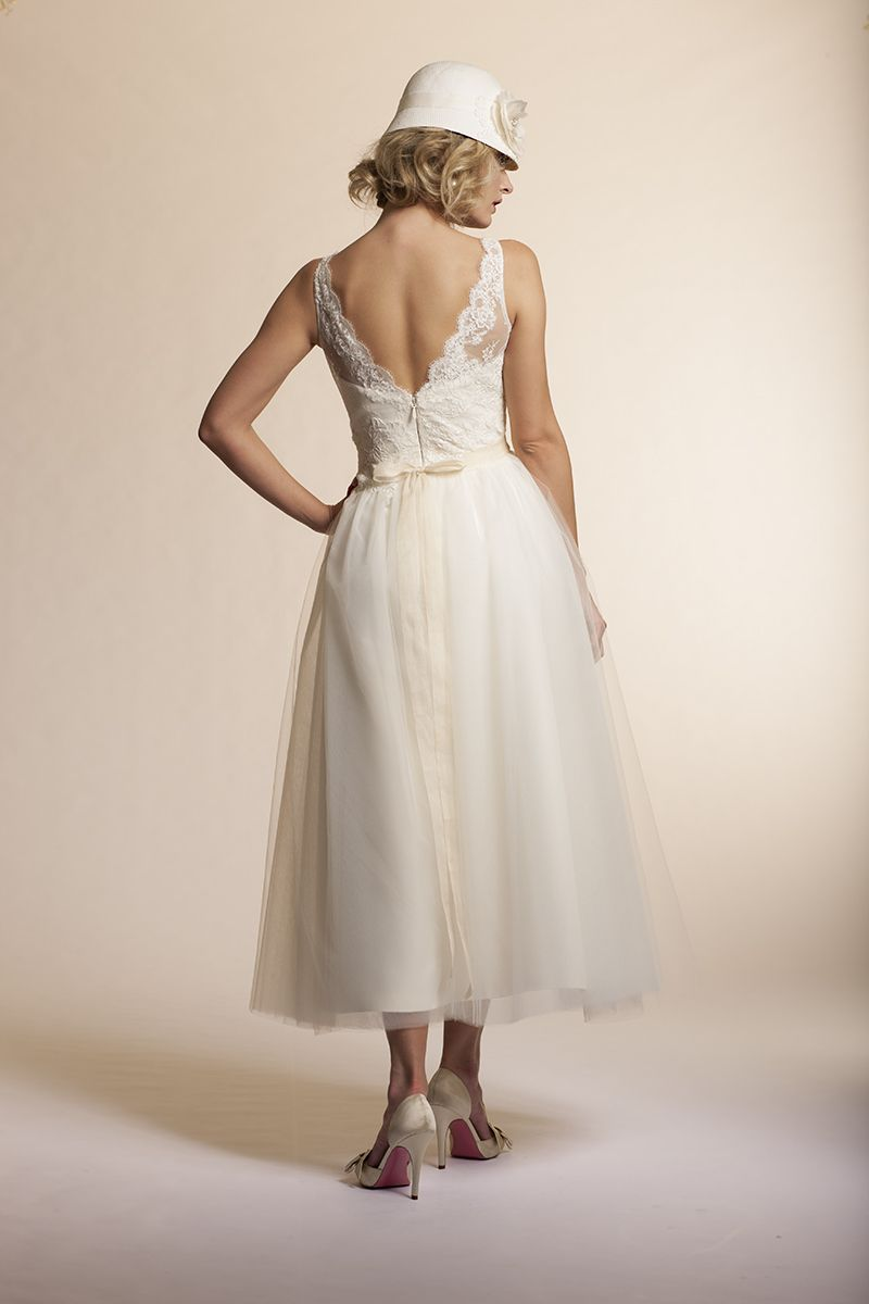 Amy Kuschel's Mimosa Gown Back View