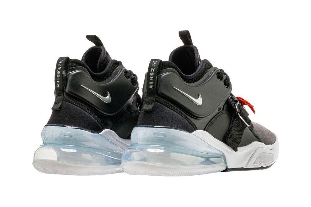 Nike Air Force 270 Black Metallic Silver release date info purchase 1376b6e92
