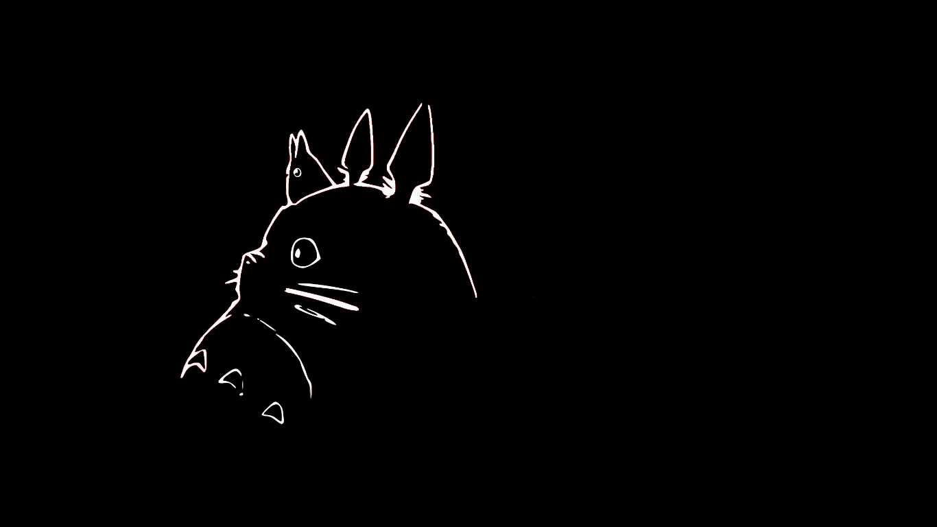 Studio Ghibli Black Wall Paper スタジオジブリ