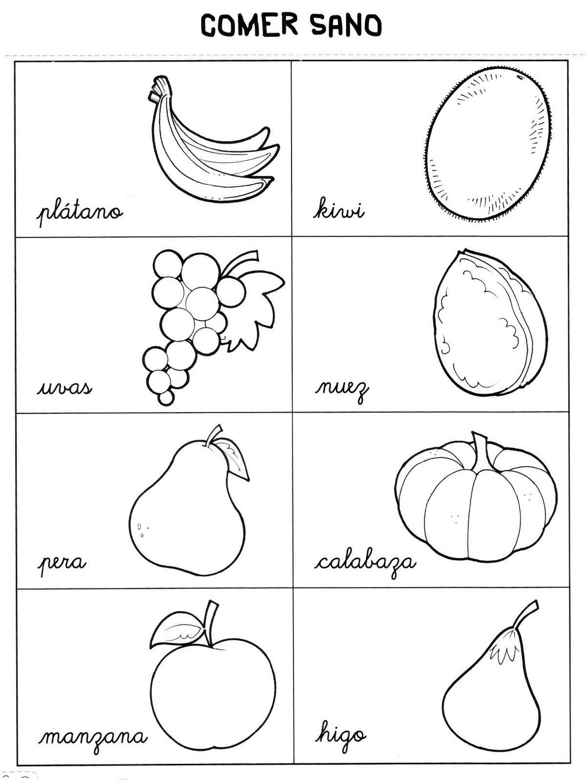 Frutas Para Colorear Google Search Chain Necklace Signs