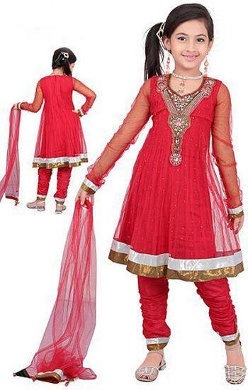 indian ladies in black dresses | k409 red girl s anarkali dress ...
