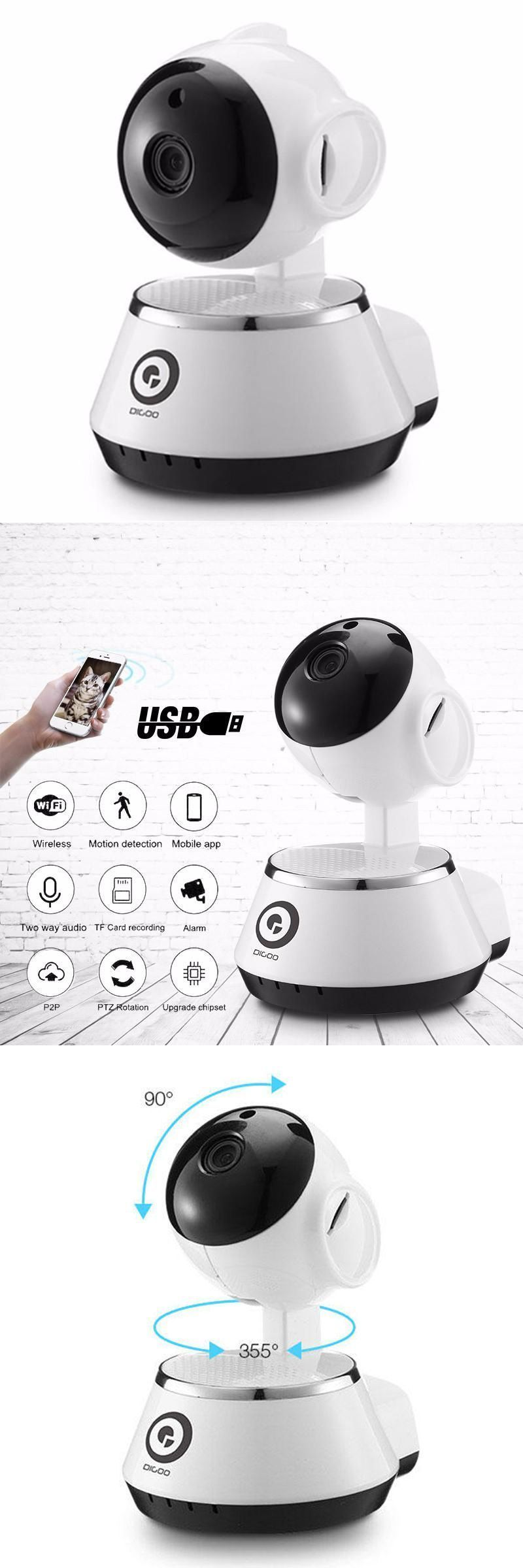Digoo BB-M1 Wireless WiFi USB Baby Monitor Alarm Home Security IP Camera HD 720P