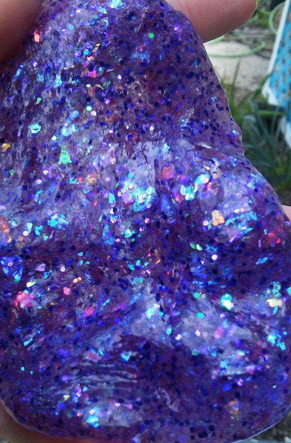 Purple Glitter Slime Opal Holographic Iridescent Unicorn Clear