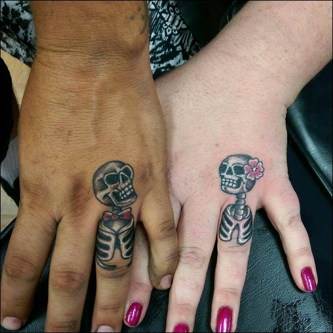 Skull Wedding Ring Tattoos skullweddingrings