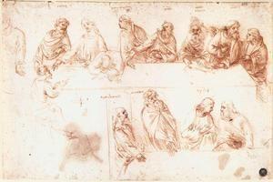 estudo para o último `supper` 1 - (Leonardo Da Vinci)