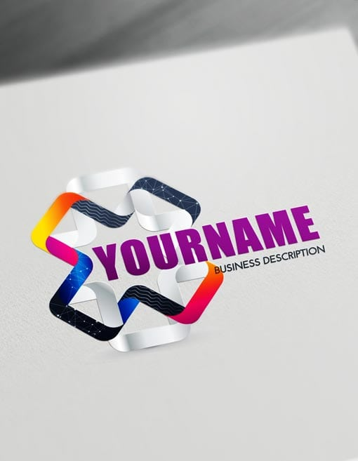 Online 3d Logos Modern 3d Connection Logo Maker Innovative Logo Logo Maker Web Design Logo