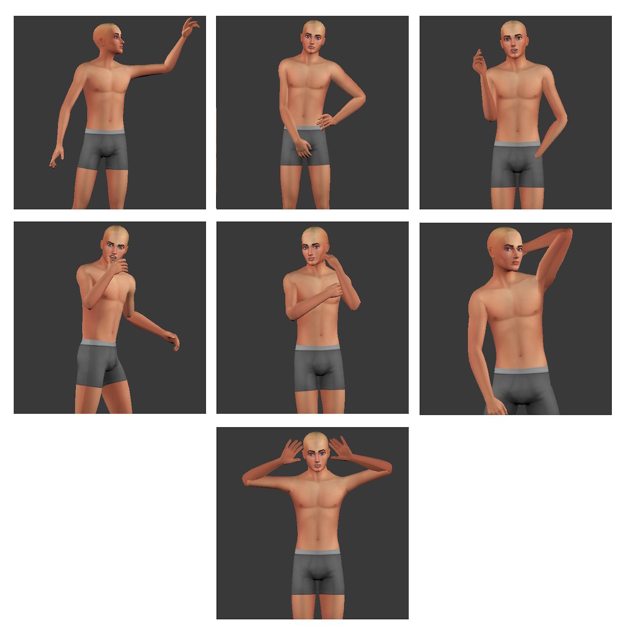 coupurelectrique: MEGA POSE PACK | The Sims 4 Custom Content