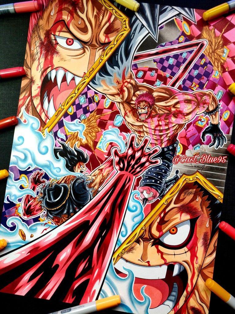 Luffy vs Katakuri Desenho de anime, Anime luta, Aliens