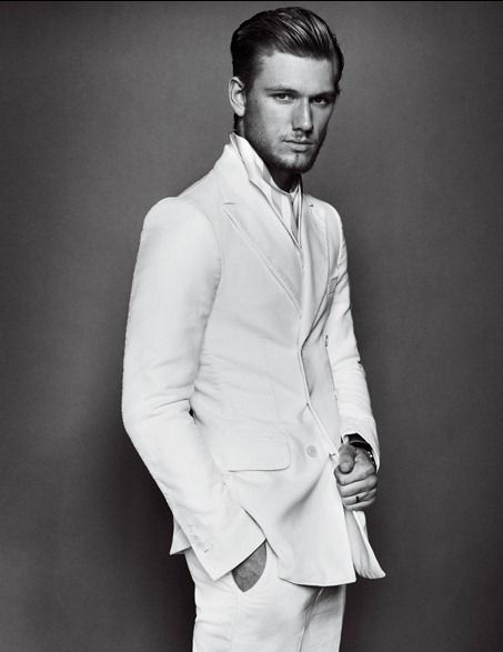 """V MAN MAGAZINE: Alex Pettyfer in """"From Darkness to White"""" by Photographer Mario Testino"""