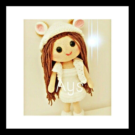 Amigurimi crochet doll toys