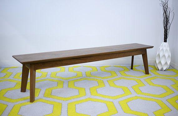 Sensational Modern Walnut Bench Mid Century Modern Bench Walnut Bench Ibusinesslaw Wood Chair Design Ideas Ibusinesslaworg