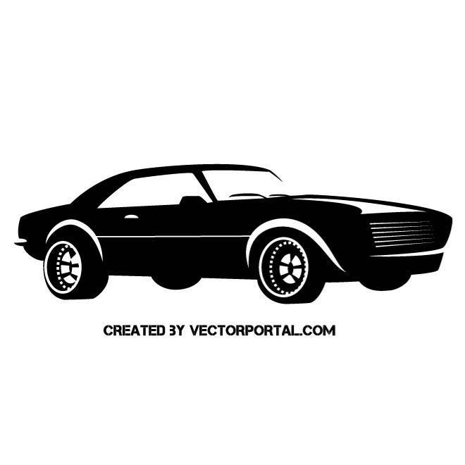 Muscle Car Vector Silhouette Car Silhouette Car Car Vector