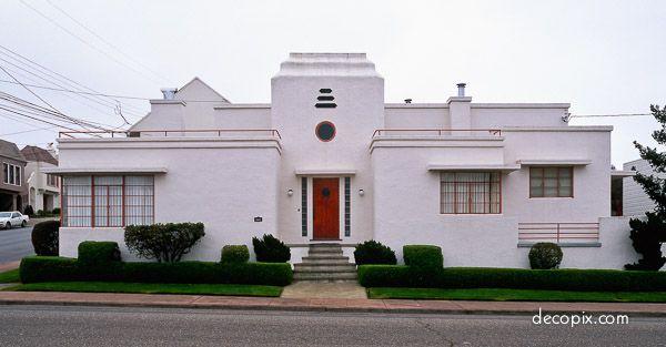 House Sf 2 Edit Edit 60070 Jpg 600 313 Art Deco Buildings Art Deco Home Art Deco Architecture