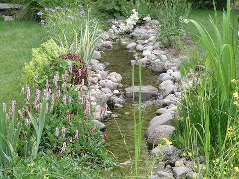 Bachlauf im Garten Gartenteich Pinterest
