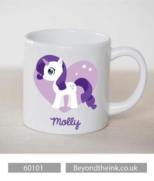 Personalised Rarity Pony Plastic