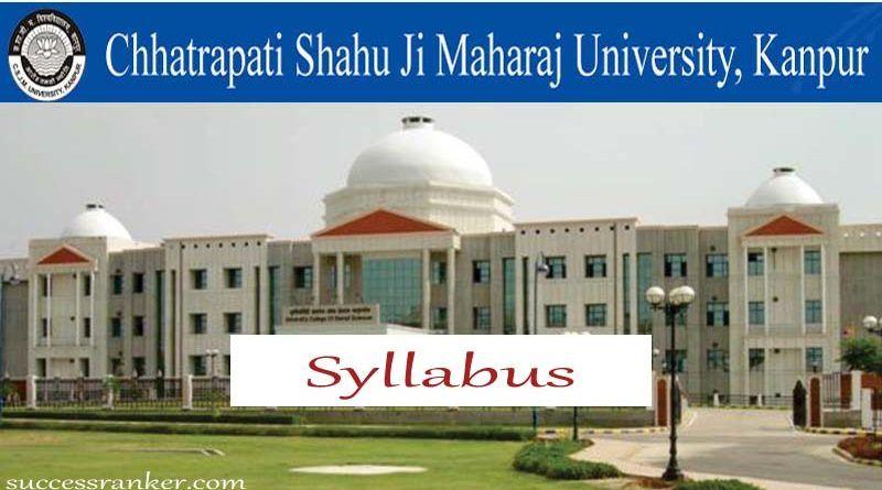 Csjmu Syllabus Kanpur University Syllabus Bachelor Of Education Syllabus University