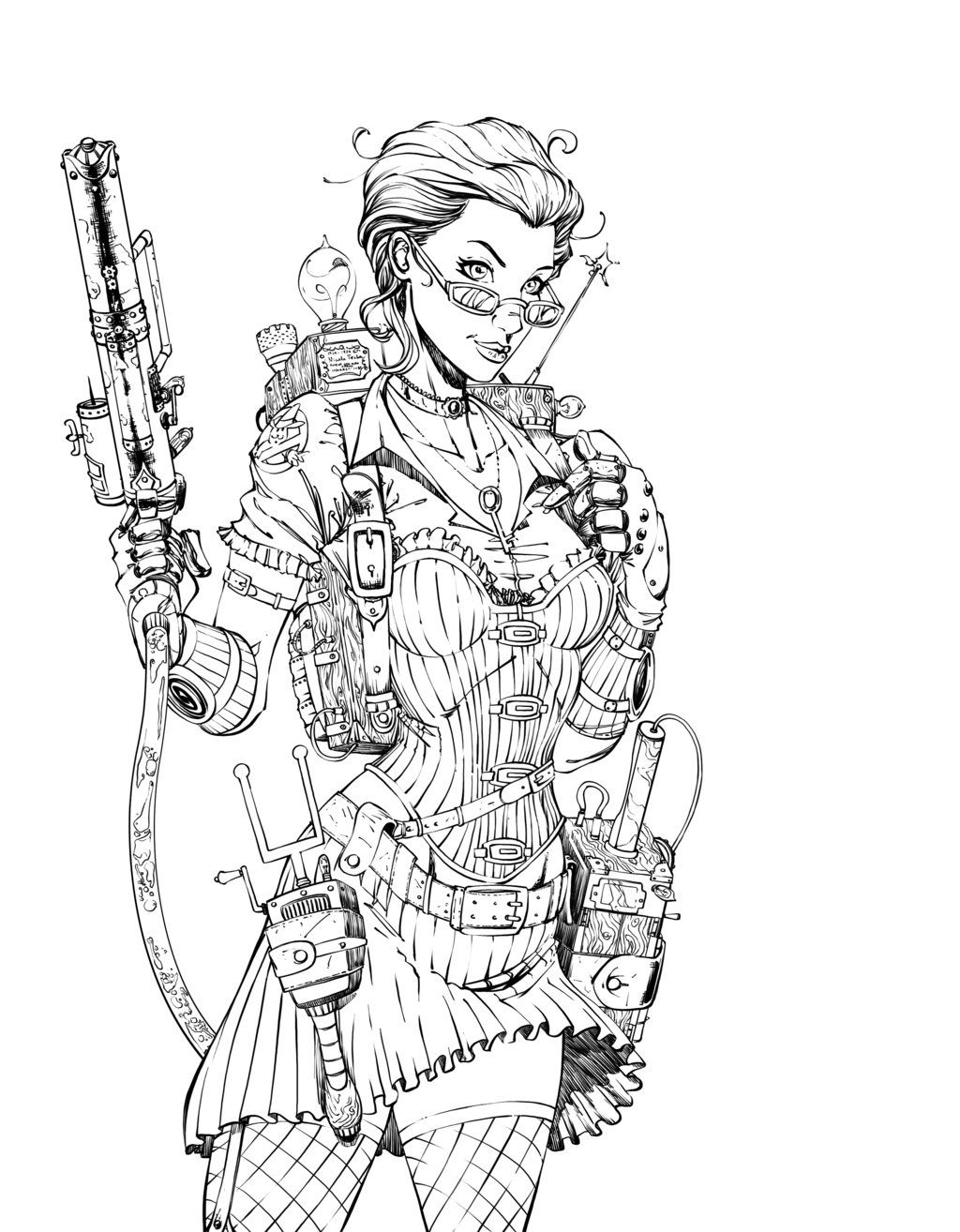 A Steampunk Version Of Janine Melnitz Of Ghostbusters Fame