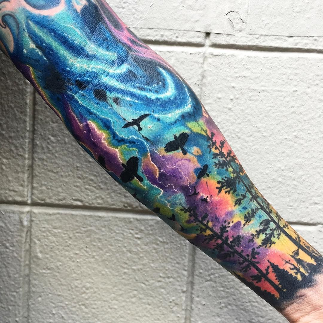 how to shade a tattoo with color