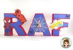 Letras 3D Homem Aranha