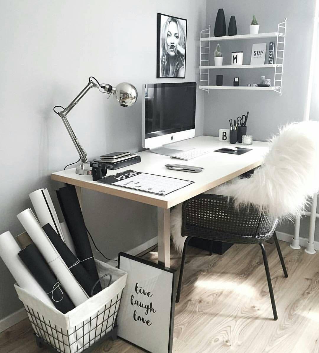 work desk ideas white office. Home Office, Workspace, Gemütlicher Arbeitsplatz Zuhause Work Desk Ideas White Office A