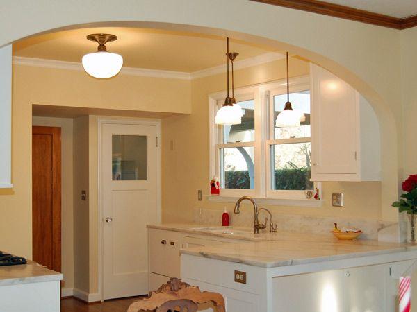Cucina con tinello arco cerca con google idee casa - Rivestimento cucina in muratura ...