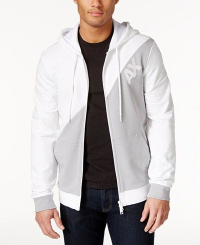 d681bfef003faa Armani Exchange Men s Logo Hoodie Jacket Jacket Men