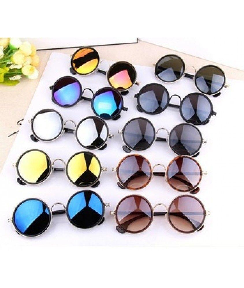 c28d24ec1ed10 Óculos de sol feminino redondo John Lennon