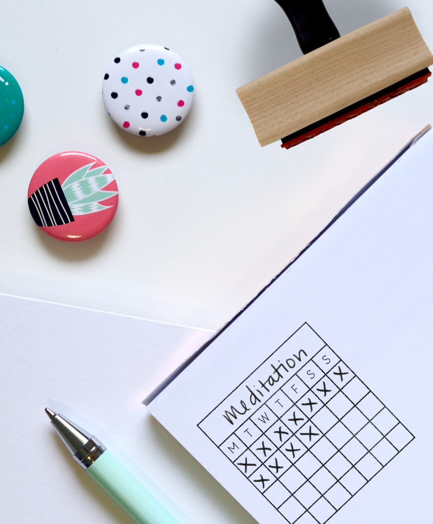 Creatiate Rubber Stamps Goal Habit Tracker And Perpetual Calendar Stamp