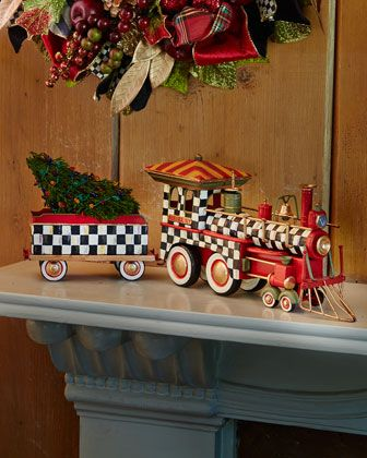 #HORCHOWHOLIDAY14 Courtly Check Train by MacKenzie-Childs at Horchow.